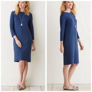 J. Jill Ponte Navy Pocket Shift Dress